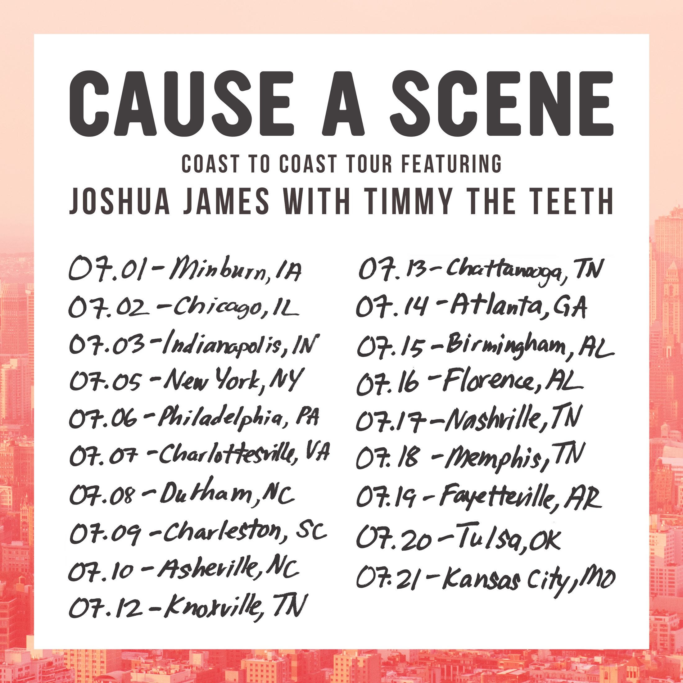 Cause A Scene Tour Announcement