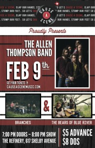 CAS - FEB 9 - THE ALLEN THOMPSON BAND ++